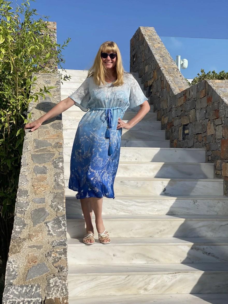 Poppy silk botanical dress