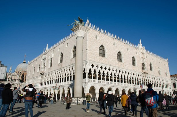 We finally arrived at the Markus Place looking right at the Palazzo Ducale.