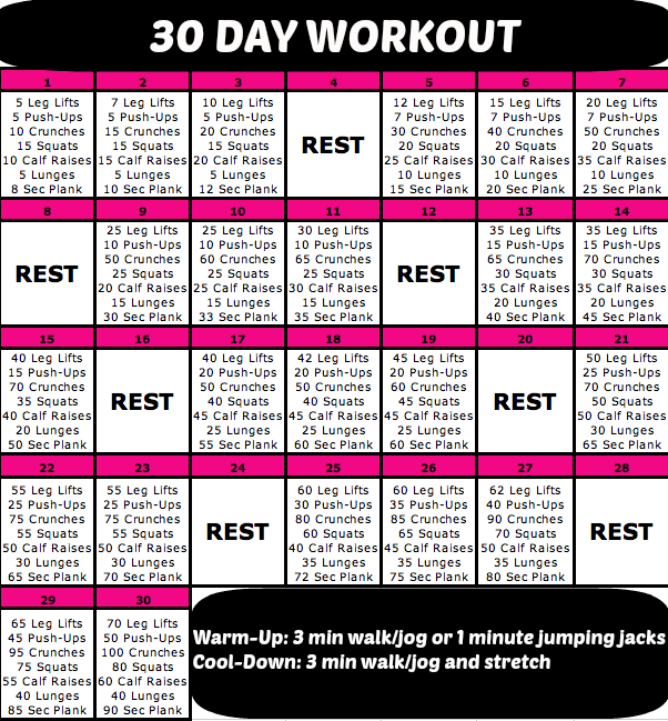 30 day workout go