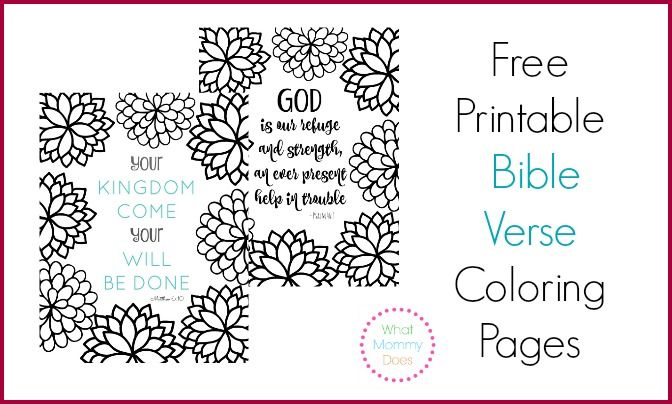 Free Printable Bible Verse Coloring Pages {Pretty Flower