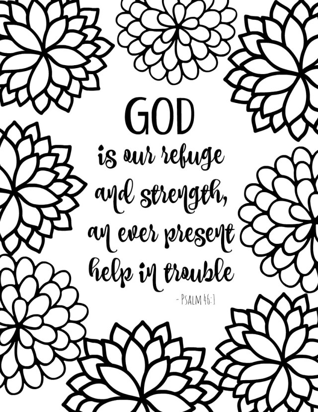 Free Printable Bible Verse Coloring Pages {Pretty Flower Design