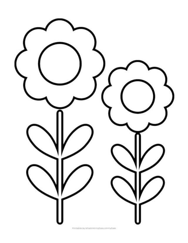 Simple Flower Coloring Page - Cute Flower!
