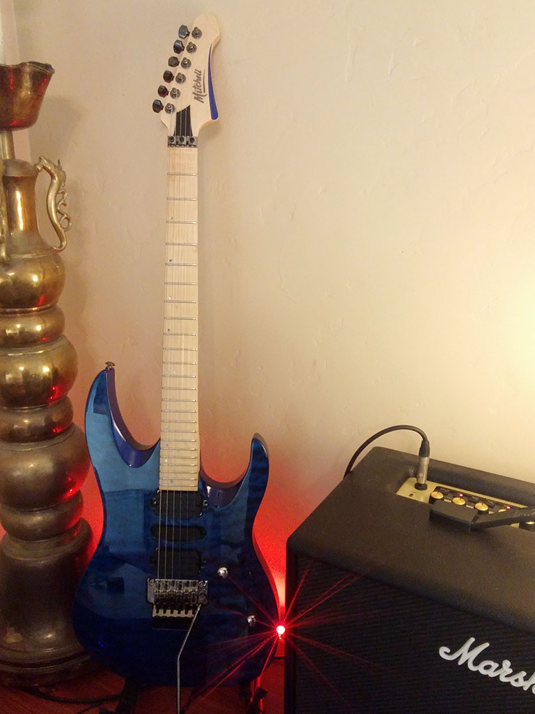 Mitchell HD400 Transparent Blue with Marshall CODE