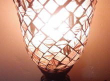 Regency Hill Mosaic Brown Glass Table Lamp