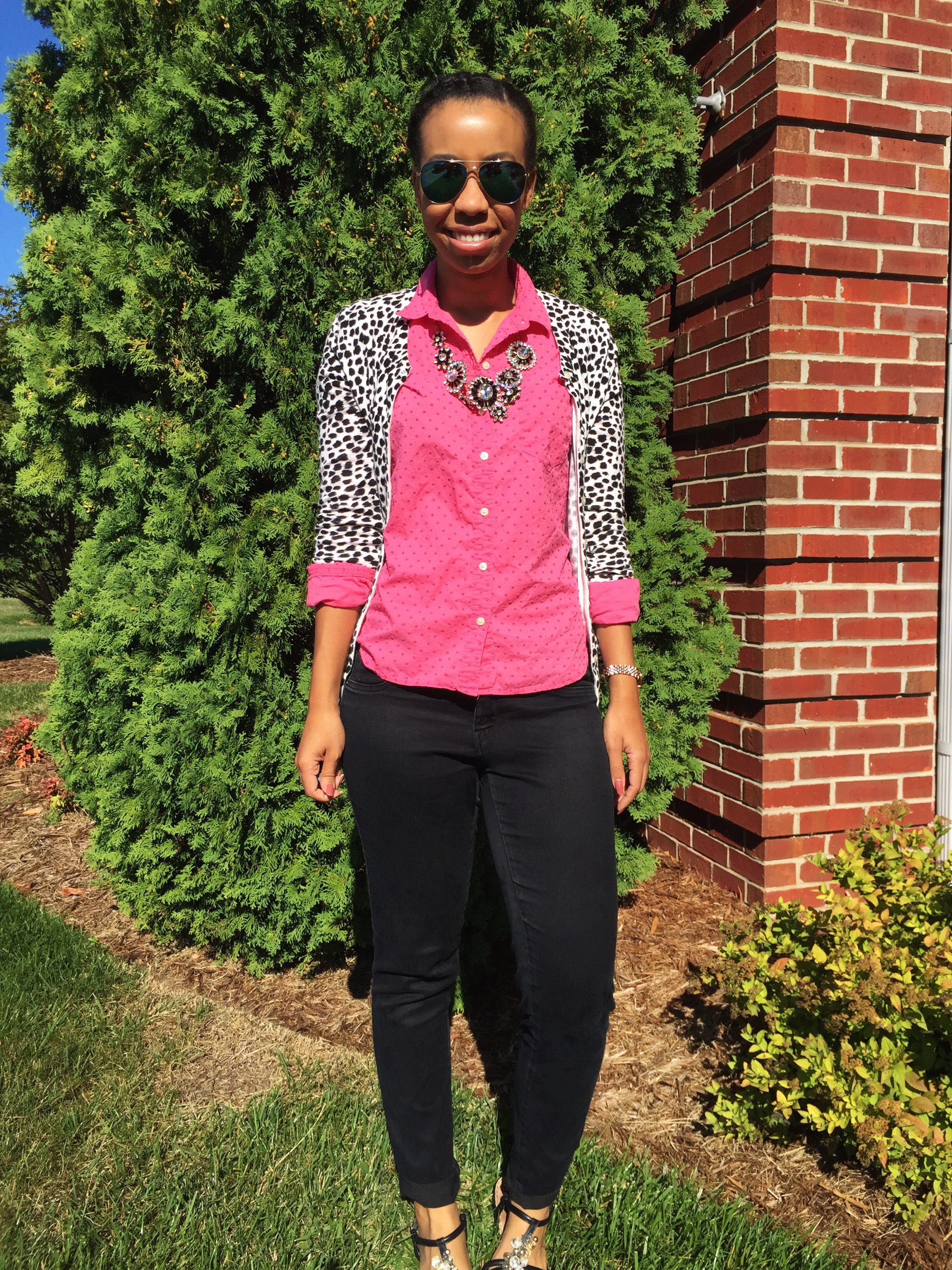 What Nicole Wore: Dots & Spots