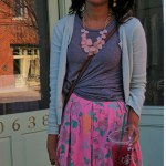 How to Wear the LuLaRoe Madison Skirt + Easy Floral Outfit