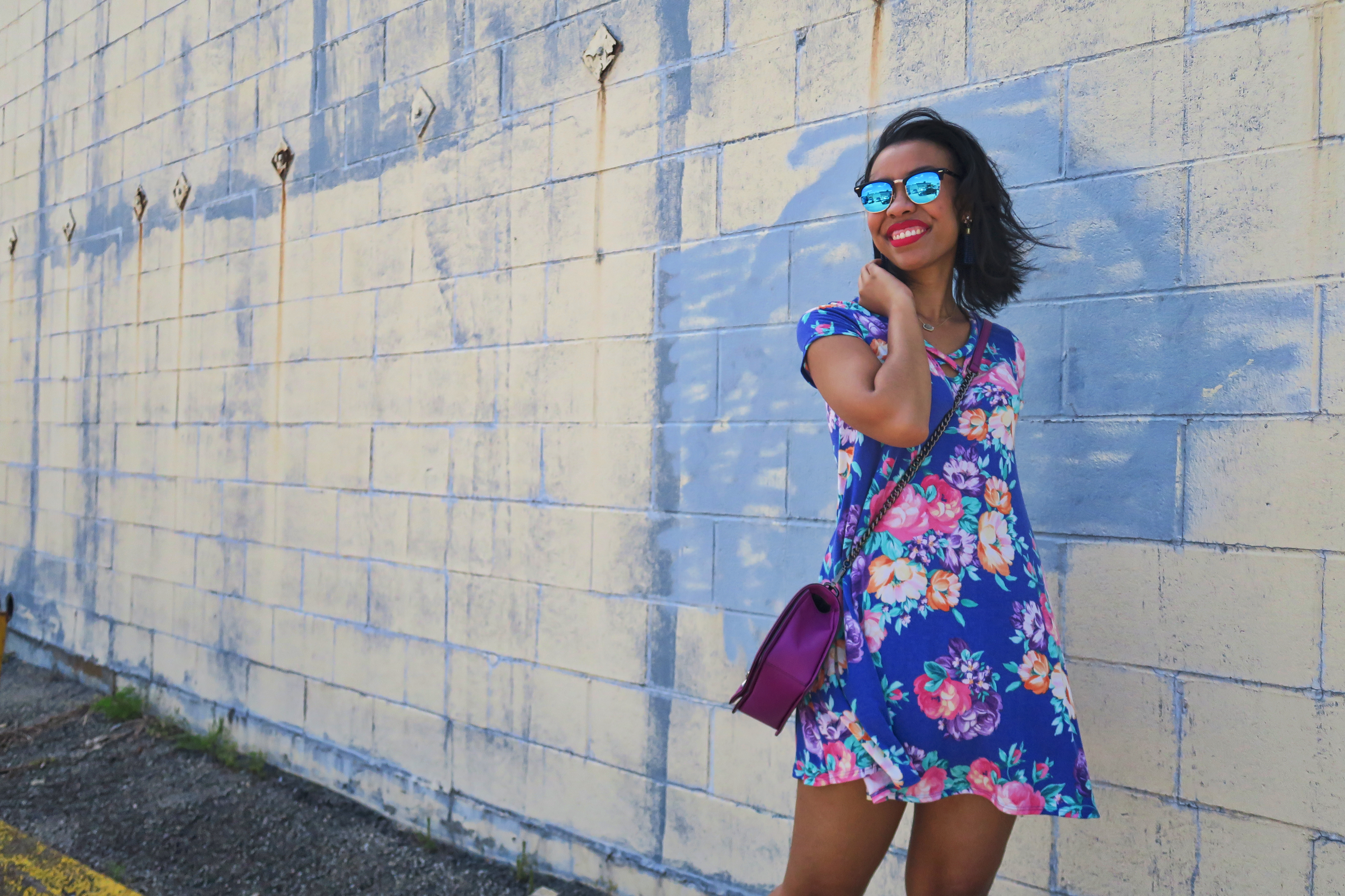 Floral Criss Cross Dress for Spring