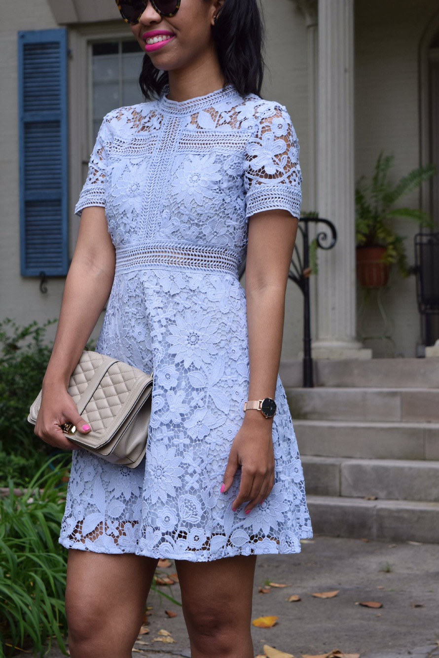 Wedding Guest Style: Lavender Lace Dress