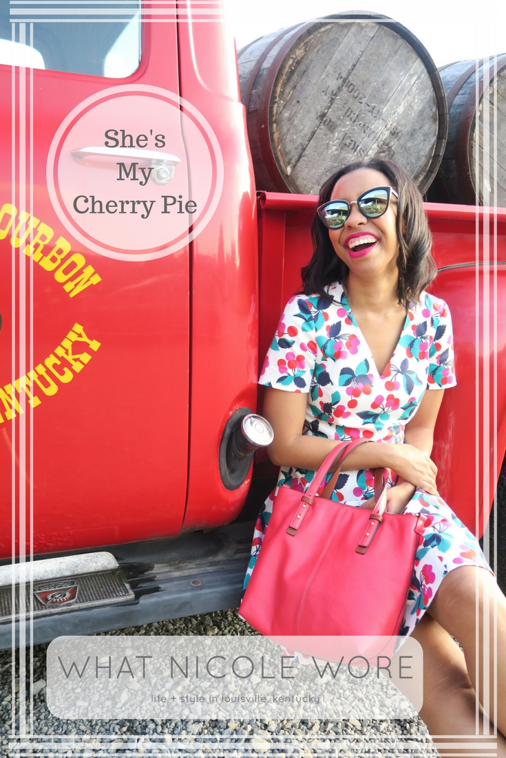 draper james, summer outfit, vera bradley leather, cherry dress, reese witherspoon, southern blogger, lifestyle blogger
