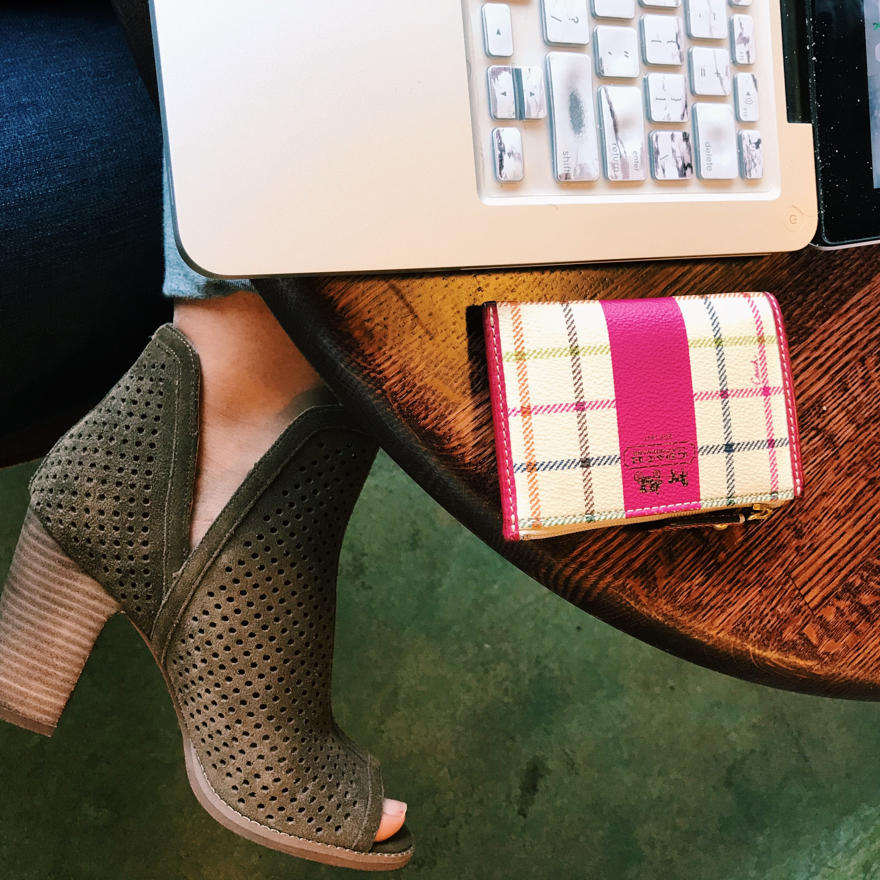 Southern lifestyle blogger shares the best recipes, blog posts, and articles from the first week of November in Friday Favorites. // block heel ankle boots, lucky brand larise booties, coach card case, leather coin purse, chic accessories for women