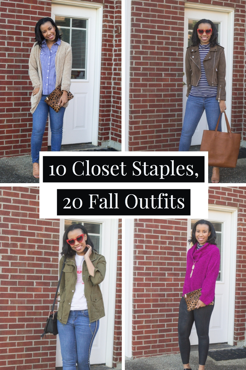 Popular Louisville blogger, What Nicole Wore, shows how to take ten wardrobe staples and create twenty fall outfits with a fall capsule wardrobe. // fall outfit ideas, fall capsule wardrobe inspiration, casual fall outfits, closet remix challenge, black style blogger, chenille cardigan outfits, gordmans finds clothing, bargain clothing stores, jcrew outfits, thrifty shopper tips, fashion blogger outfits