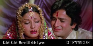 Kabhi Kabhi Mere Dil Mein Khayal Aata Hai Full Song Lyrics image