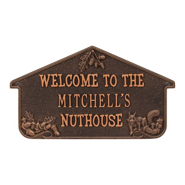 personalized nuthouse wall plaque