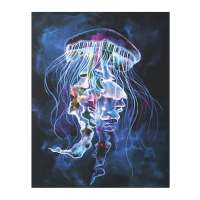 Led Light Up Jellyfish Canvas Wall Art at What on Earth ...