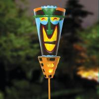 Outdoor Tiki Torches - Solar Powered LED Light -Metal Yard ...