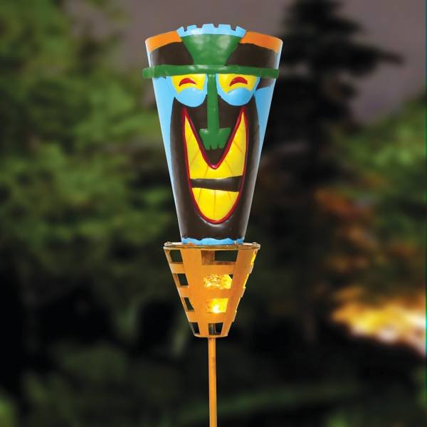 Outdoor Tiki Torches - Solar Powered Led Light -metal Yard