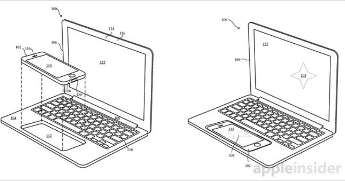 Apple จดสิทธิบัตร Dock แปลงร่าง เปลี่ยน iPhone เป็น MacBook