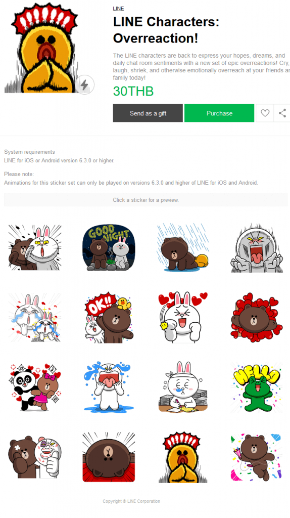LINE Characters Pop-Up Stickers