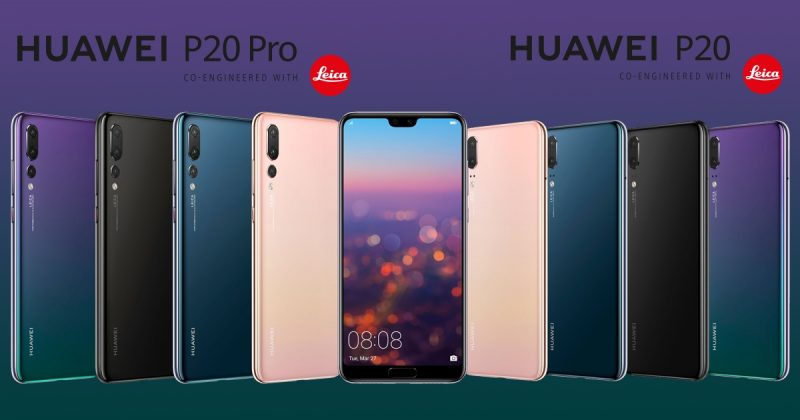 Huawei P20 and Huawei P20 Pro Render All Colour head cover