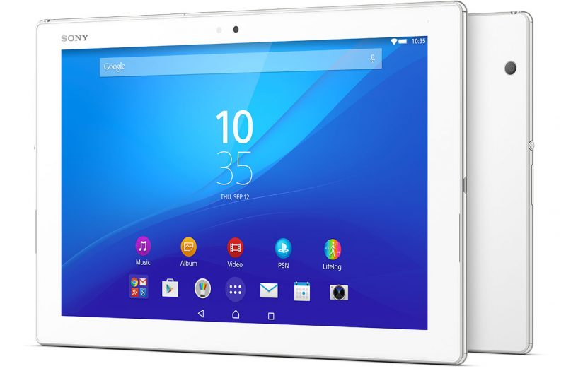 Xperia Z4 Tablet White render