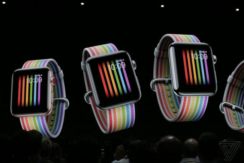 apple_WWDC_2018 Wallpaper Rainbow Watch OS 5 feature