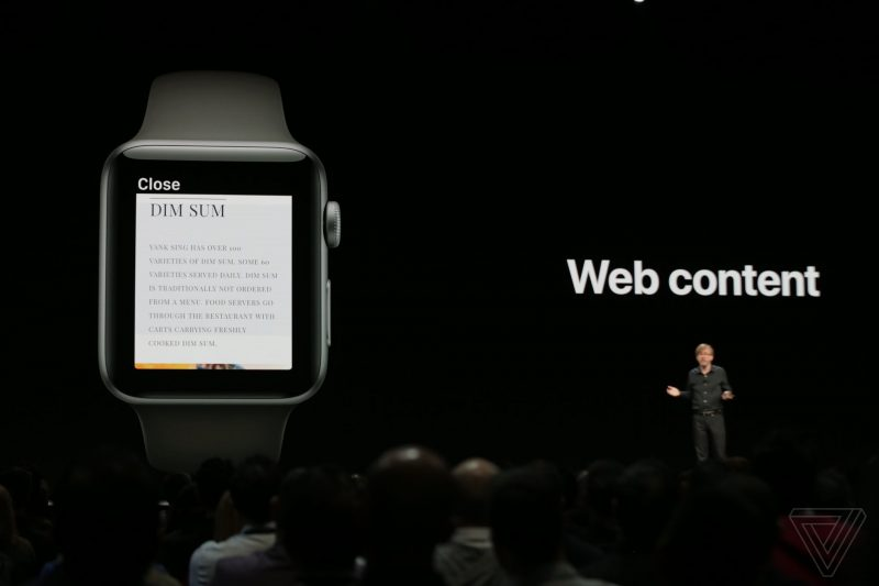 apple_WWDC_2018 Web Content Watch OS 5 feature