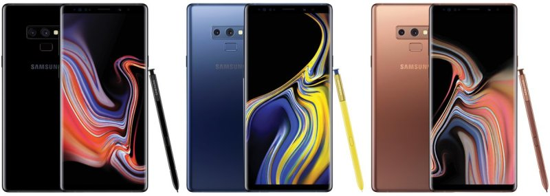 Galaxy Note 9 All colors