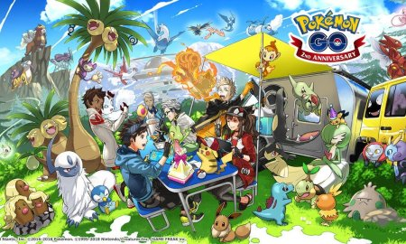 Pokemon Go 2nd Anniversary 4th Gen Header