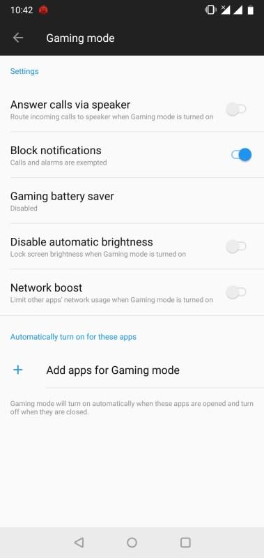 OnePlus 6_Gaming Mode