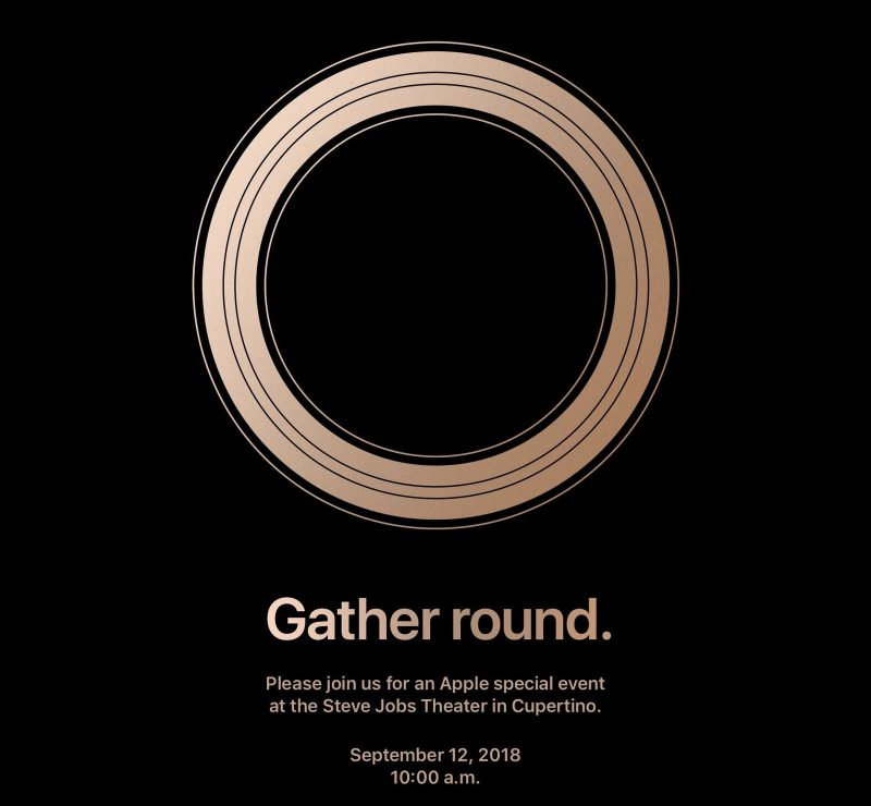 Apple iPhone September 12th 2018 invite gather around