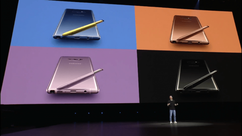Samsung Galaxy Note 9 Color