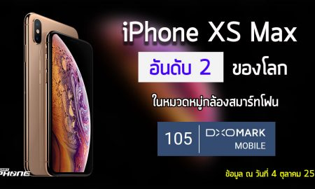 iPhone XS Max with DxOmark Head