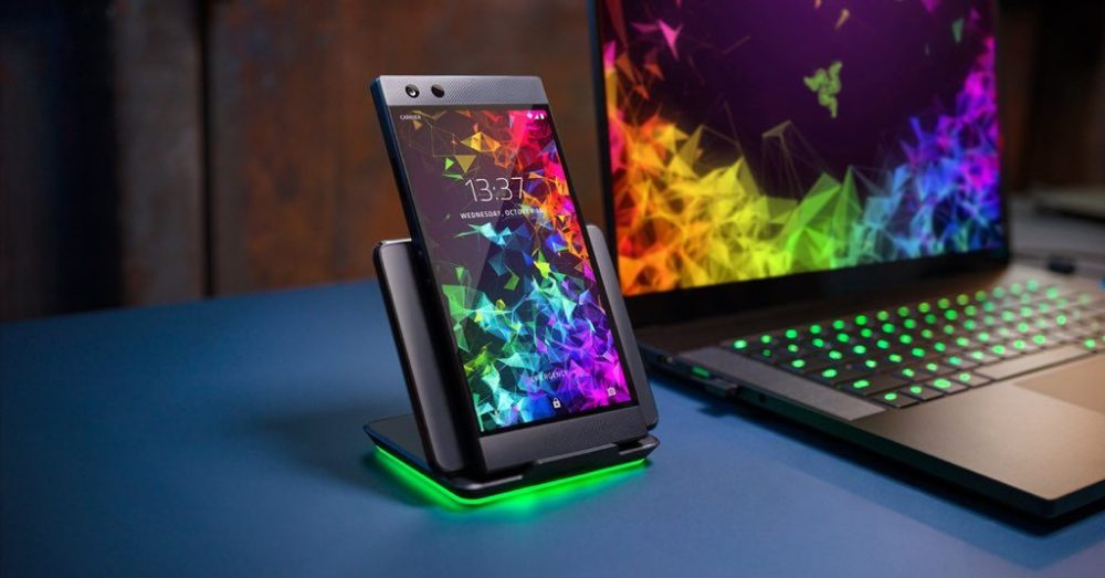 The Razer Wireless Charger with Chroma RGB lights