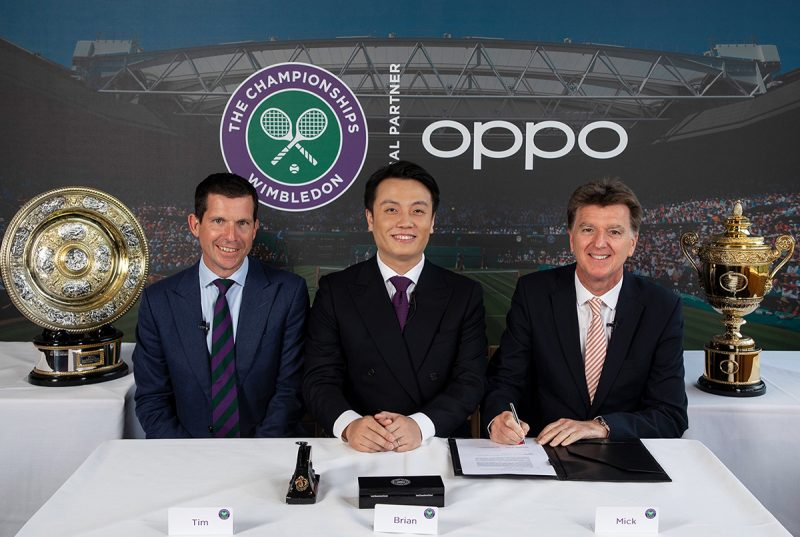 oppo official partner The Championships Wimbledon