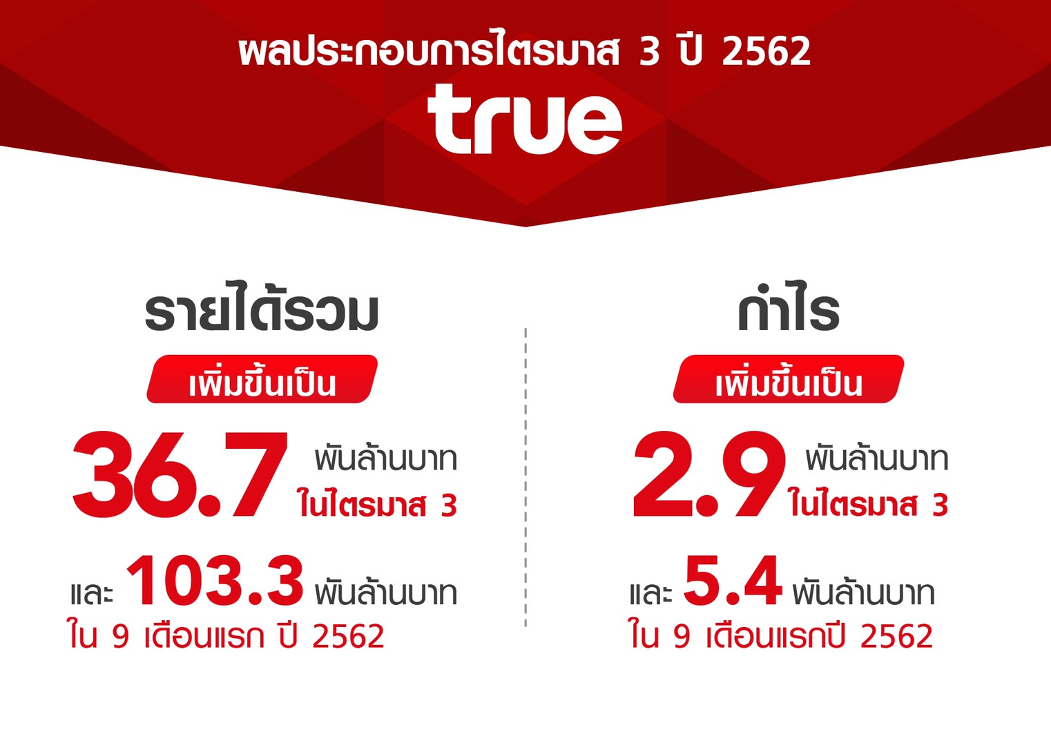 True Group Report Q3 2019