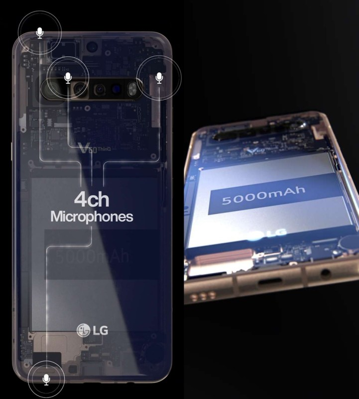 LG V60 ThinQ 5G with 4ch microphones