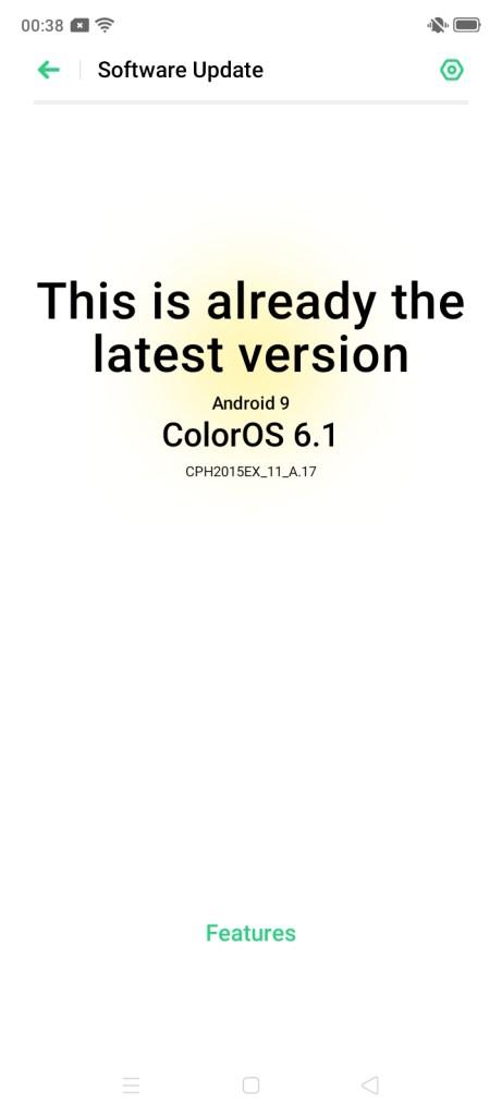 OPPO A31 colorOS 6.1