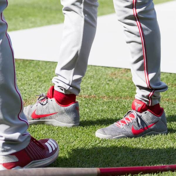 Pros Wear Joey Votto' Nike Kobe 11 Pre-game Shoes