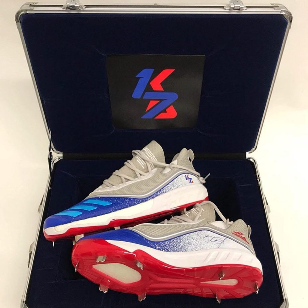 b797cd8d3515 What Pros Wear: Kris Bryant's adidas Icon V Cleats - What Pros Wear