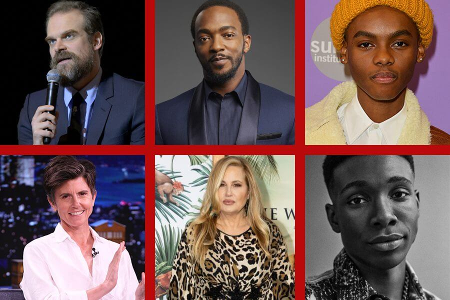 we have a netflix ghost cast grid