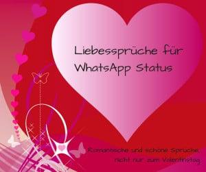 Liebessprche fr WhatsApp Status romantisch und schn