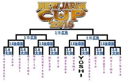 NJPW bracket NJCup 2015