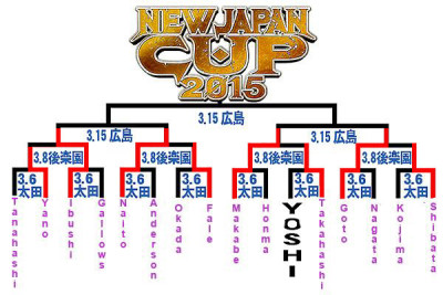 NJPW bracket NJCup 2015 after Day2