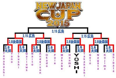 NJPW bracket NJCup 2015 after Day2