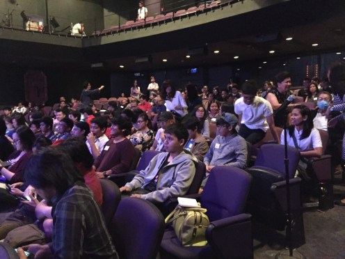 CROWD AT CARLOS P. ROMULO AUDITORIUM. Photo by Gia Densing.