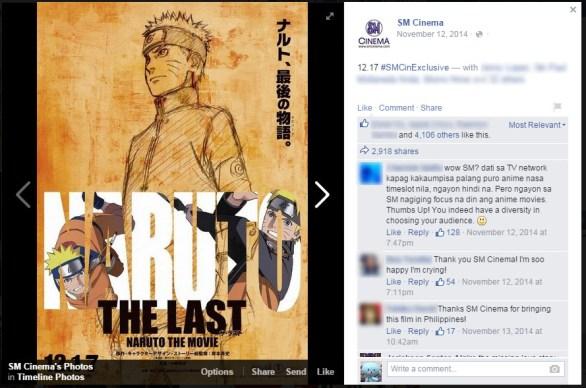 SM Cinema Naruto 1st Announcement