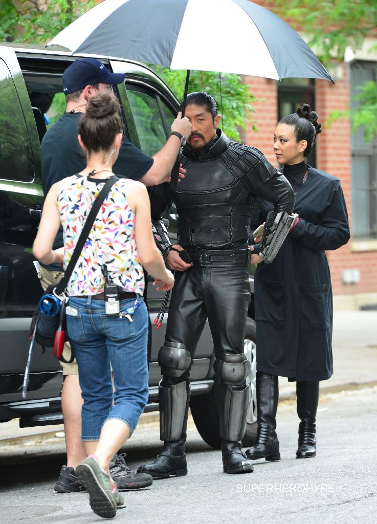 Stars on the film set of 'Teenage Mutant Ninja Turtles 2' in New York City Featuring: Brian Tee Where: Manhattan, New York, United States When: 27 May 2015 Credit: TNYF/WENN.com