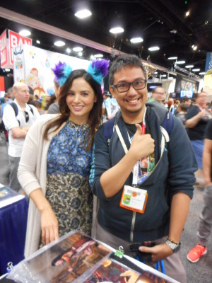 with Katrina Law (aka Nyssa Al Ghul) of Arrow. (c) WAG