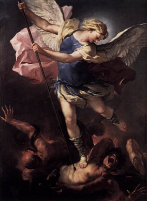 """""""St. Michael"""" by Luca Giordano."""