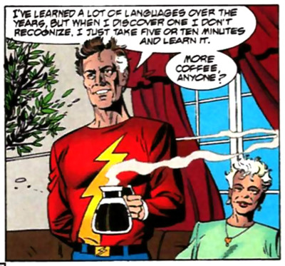 Also, his connection to the Speed Force slows down his aging.